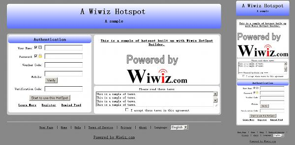 Default Authentication Page of a HotSpot (Adaptive)